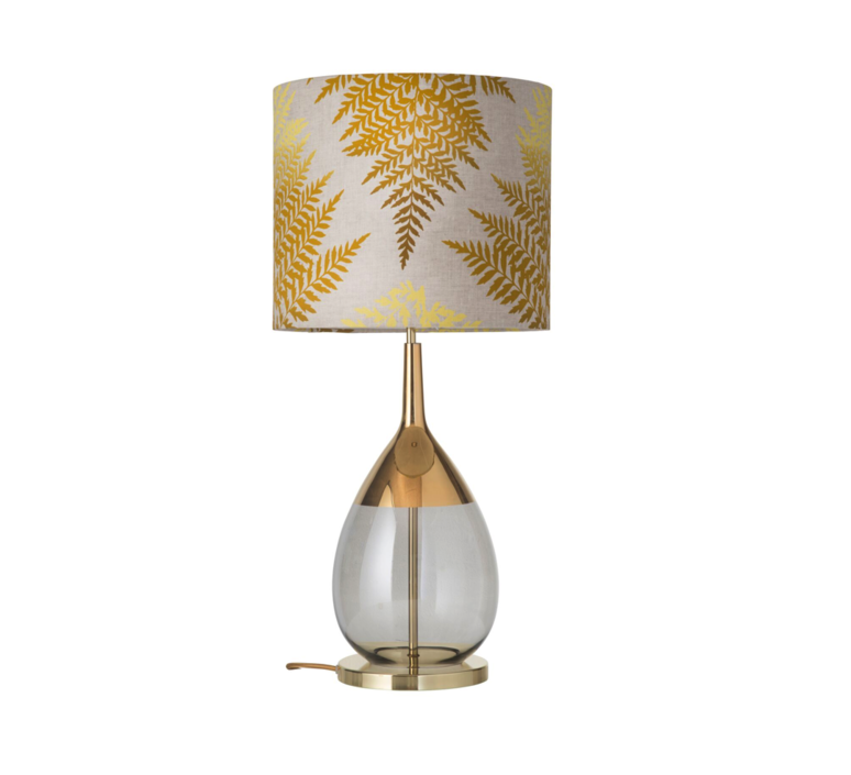 Fern leaves graphic  lampe a poser table lamp  ebb and flow ba101015 sh101014  design signed 39640 product