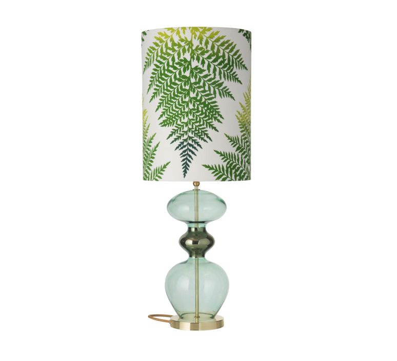 Fern leaves graphic  lampe a poser table lamp  ebb and flow ba101017 sh101048  design signed 39643 product