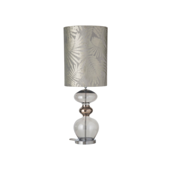 Lampe a poser fern leaves wild argent o30cm h92cm ebb and flow normal