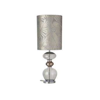 Lampe a poser fern leaves wild argent o30cm h92cm ebb and flow normal