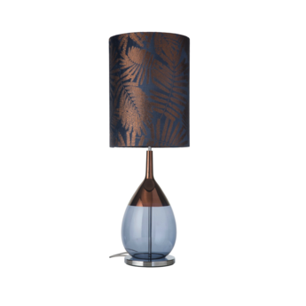 Lampe a poser fern leaves wild bleu o30cm h92cm ebb and flow normal