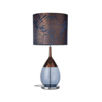 Lampe a poser fern leaves wild bleu o35cm h82cm ebb and flow normal