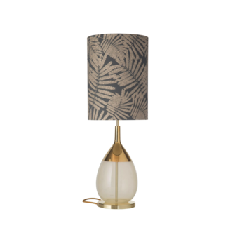 Lampe a poser fern leaves wild gris o30cm h92cm ebb and flow normal