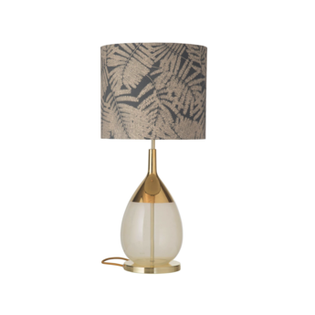Lampe a poser fern leaves wild gris o35cm h82cm ebb and flow normal