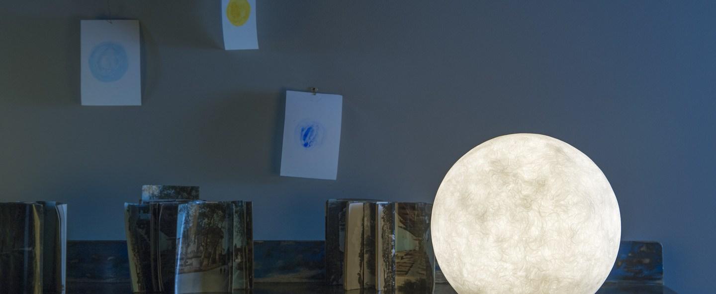 Lampe a poser floor moon 1 blanc o50cm cm in es artdesign normal
