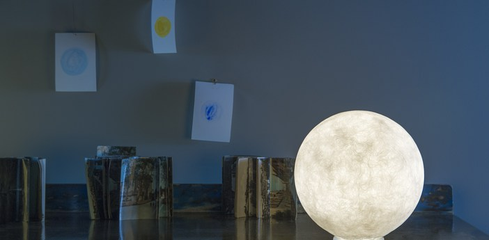 Lampe a poser floor moon 1 blanc o50cm cm in es artdesign normal