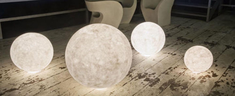 Lampe a poser floor moon 3 blanc o120cm cm in es artdesign normal