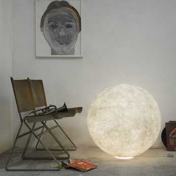 Lampe a poser floor moon 3 blanc o120cm cm in es artdesign normal