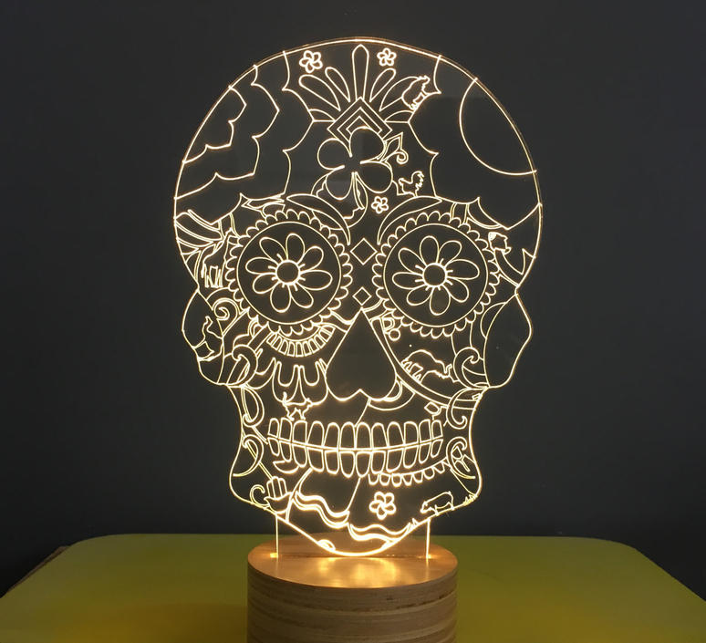 Floral skull  lampe a poser table lamp  studio cheha 1640 sk2  design signed nedgis 75257 product