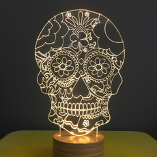 Floral skull  lampe a poser table lamp  studio cheha 1640 sk2  design signed nedgis 75257 thumb