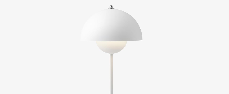 Lampe a poser flowerpot vp3 blanc mat o23cm h49cm andtradition normal