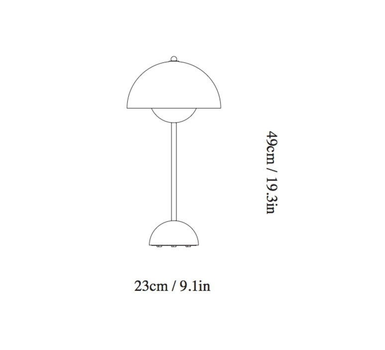 Flowerpot vp3 verner panton lampe a poser table lamp  andtradition 20723101  design signed 56815 product