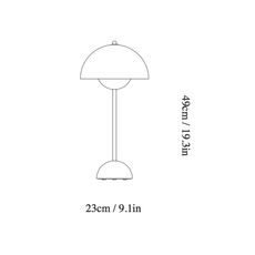 Flowerpot vp3 verner panton lampe a poser table lamp  andtradition 20723101  design signed 56815 thumb