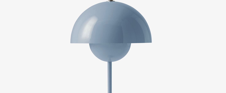 Lampe a poser flowerpot vp3 bleu clair o23cm h50cm andtradition normal