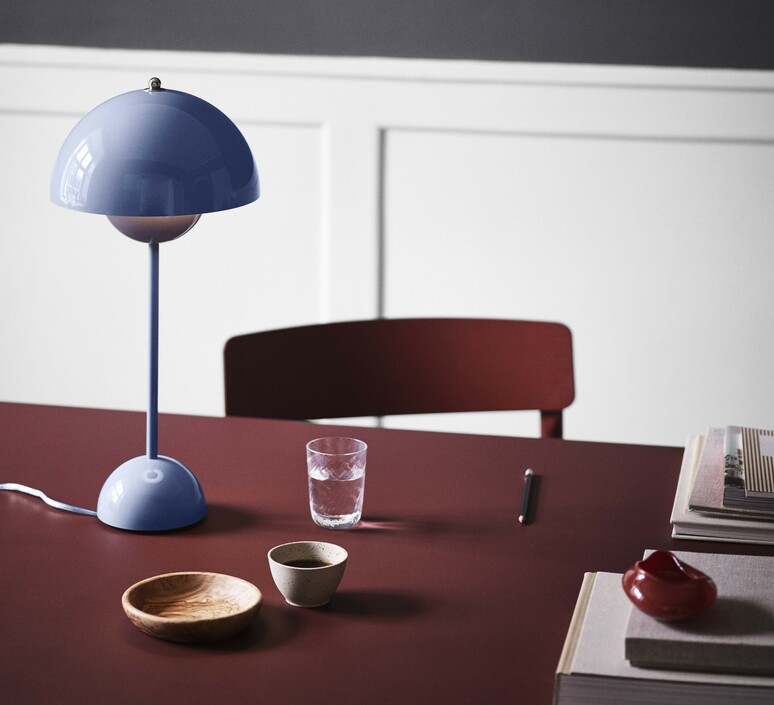 Flowerpot vp3 verner panton lampe a poser table lamp  andtradition 20725201  design signed nedgis 88473 product