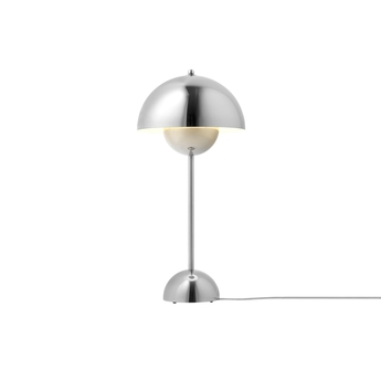Lampe a poser flowerpot vp3 chrome h49cm andtradition normal