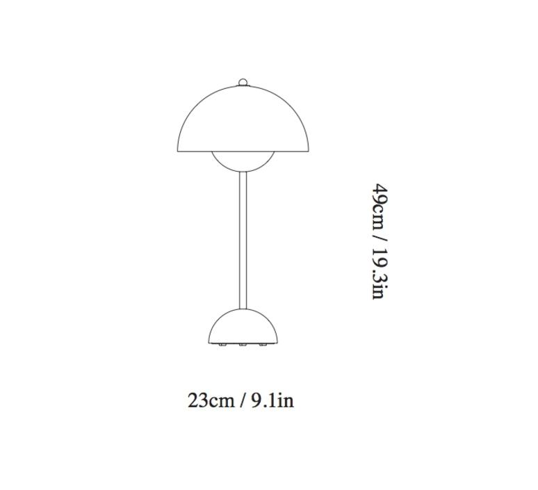 Flowerpot vp3 verne panton andtradition 20728901 luminaire lighting design signed 28796 product