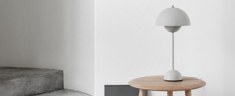 Lampe a poser flowerpot vp3 gris mat h49cm andtradition normal