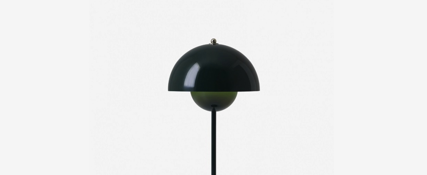 Lampe a poser flowerpot vp3 vert fonce h49cm andtradition normal