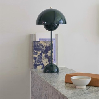 Lampe a poser flowerpot vp3 vert fonce h49cm andtradition normal