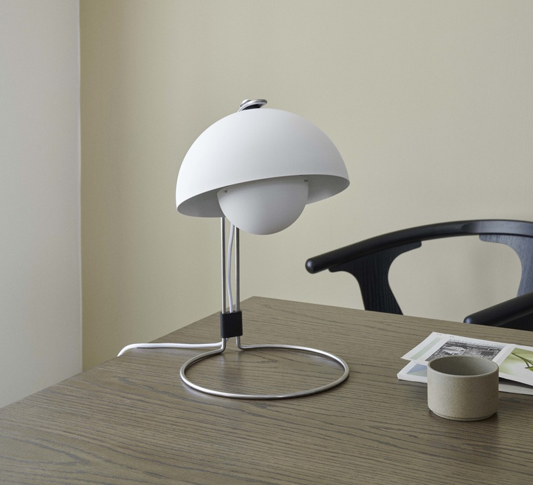 Flowerpot vp4 verner panton lampe a poser table lamp  andtradition 20733101  design signed 60854 product