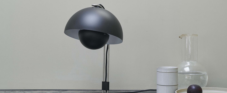 Lampe a poser flowerpot vp4 noir o23cm h36cm andtradition normal