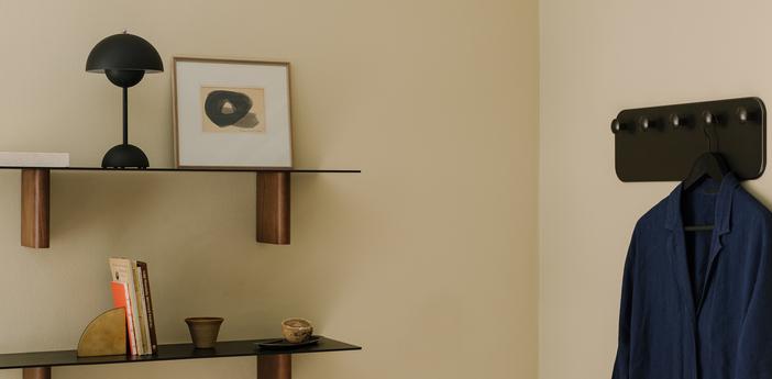 Lampe a poser flowerpot vp9 noir mat ip44 led 2700k 325lm o16cm h29 5cm andtradition normal