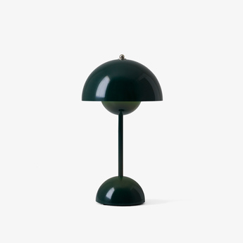 Lampe a poser flowerpot vp9 vert fonce ip44 led 2700k 325lm o16cm h29 5cm andtradition normal