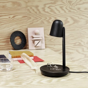 Lampe a poser focus noir led o16cm h29cm muuto normal