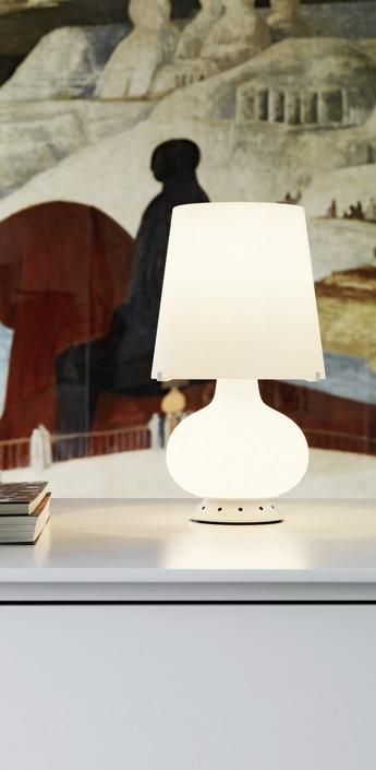 Lampe a poser fontana blanc h34cm fontana arte normal