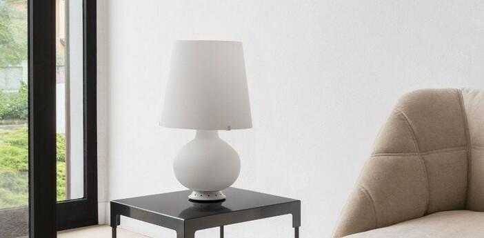 Lampe a poser fontana blanc h53cm fontana arte normal