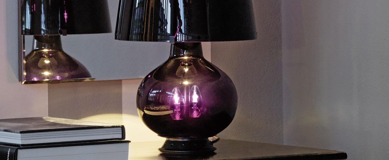 Lampe a poser fontana noir h53cm fontana arte normal