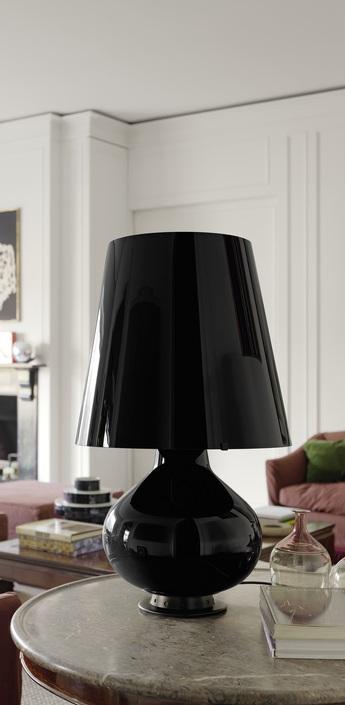 Lampe a poser fontana noir h78cm fontana arte normal