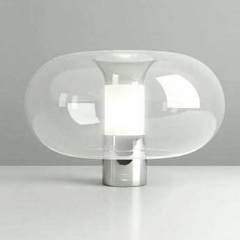 Lampe a poser fontanella l chrome o40cm h27cm fontana arte normal