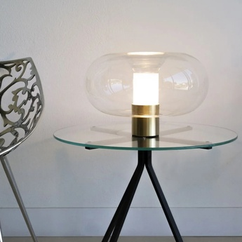 Lampe a poser fontanella l laiton o40cm h27cm fontana arte normal