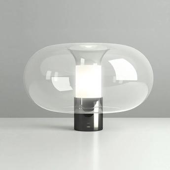 Lampe a poser fontanella l noir o40cm h27cm fontana arte normal