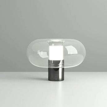 Lampe a poser fontanella m noir o27cm h20cm fontana arte normal