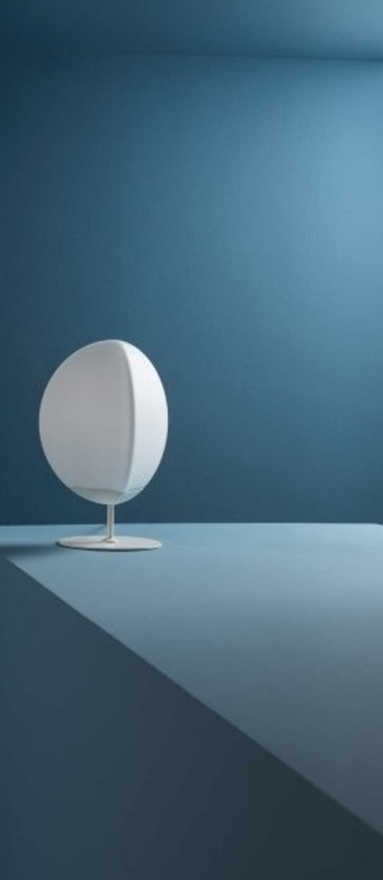 Lampe a poser fruitfull large blanc ip40 led 3000k l26 5cm h40cm fabbian normal
