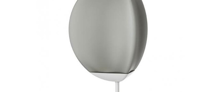 Lampe a poser fruitfull large gris fume ip40 led 3000k l26 5cm h40cm fabbian normal