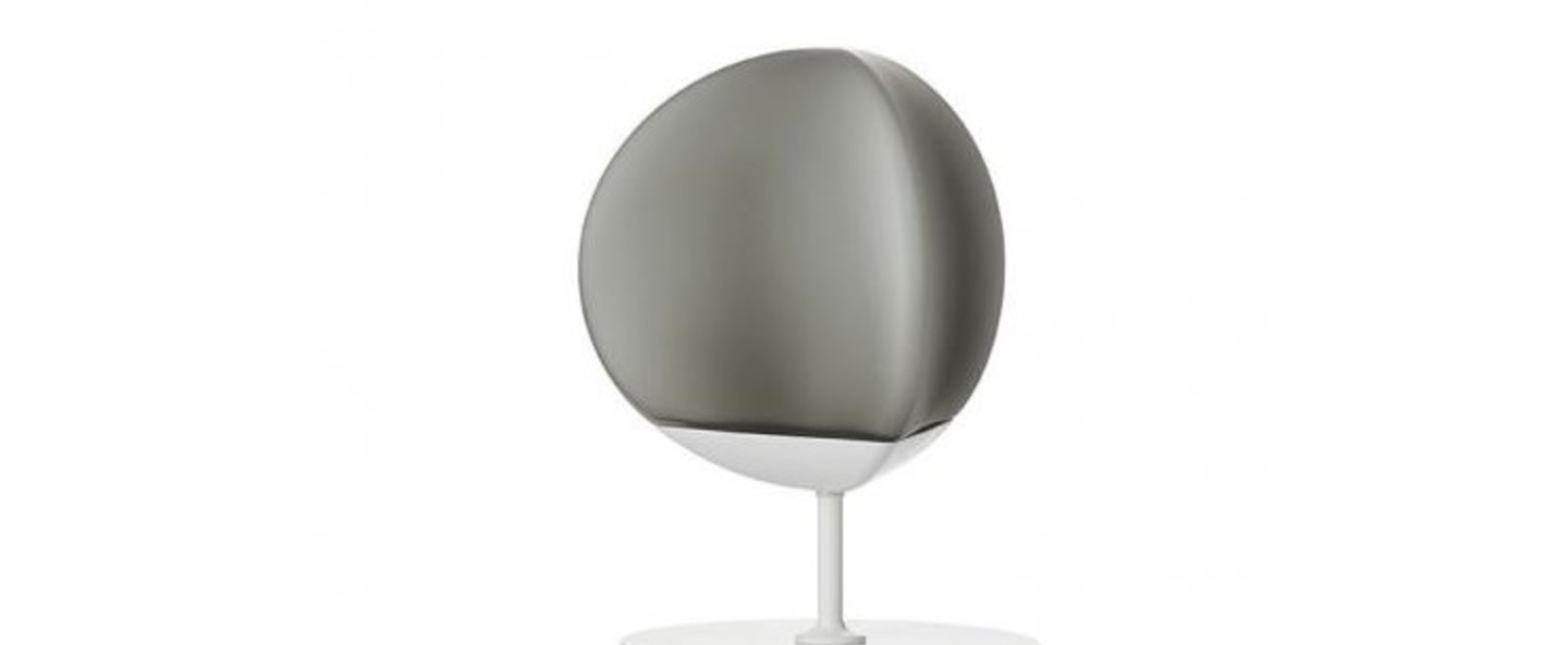 Lampe a poser fruitfull small gris fume ip40 led 3000k l24cm h29 5cm fabbian normal