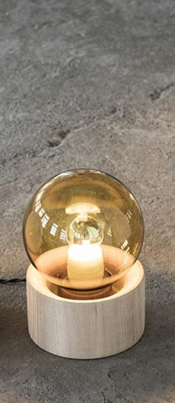 Lampe a poser full moon ambre bois o14 5cm h20cm serax normal