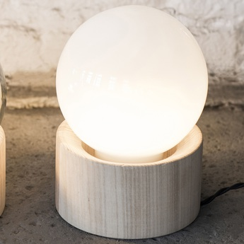 Lampe a poser full moon bois blanc o14 5cm h20cm serax normal