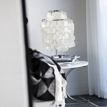 Lampe a poser fun 2tm nacre blanc o27cm h43cm verpan normal