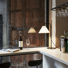 Lampe à poser, Funiculi Fabric, noir, blanc, LED, H61,4cm