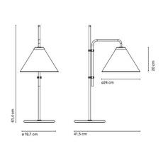 Funiculi fabric lluis porqueras lampe a poser table lamp  marset a641 406  design signed 61716 thumb