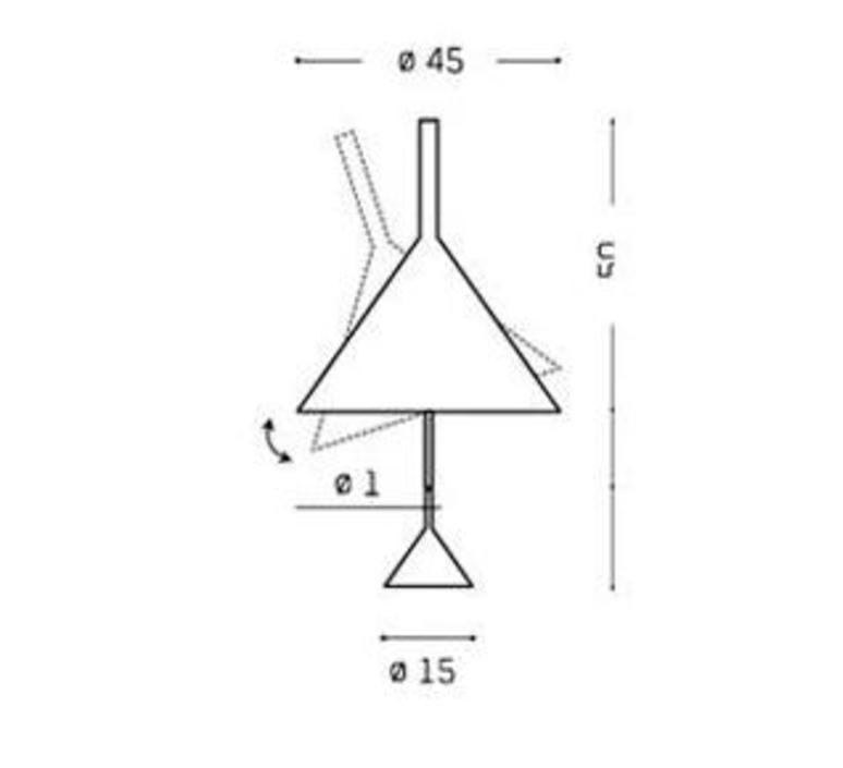 Funnel matija bevk lampe a poser table lamp  vertigo bird v05014 5201  design signed 50177 product