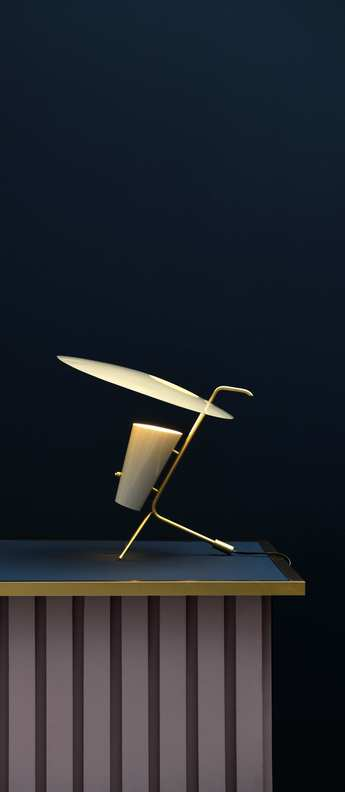 Lampe a poser g24 guariche blanc casse o39cm h42cm sammode normal