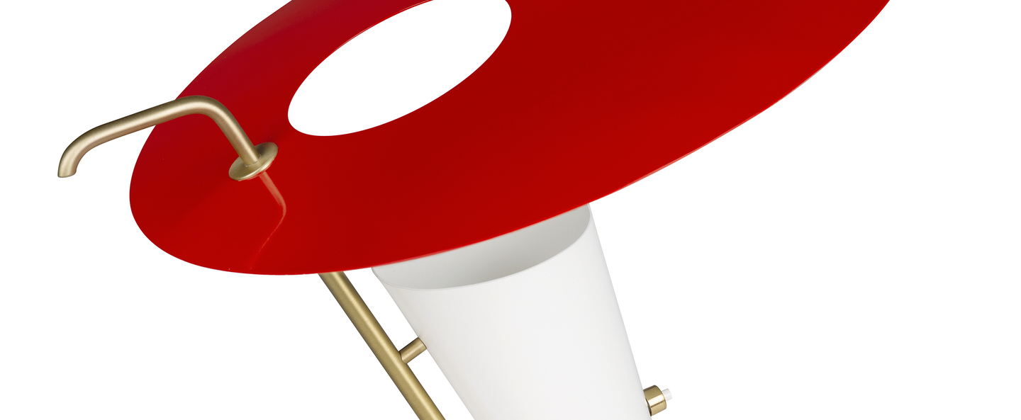 Lampe a poser g24 guariche rouge o39cm h42cm sammode normal