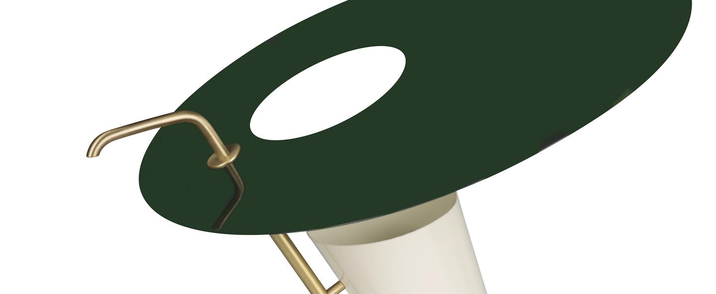 Lampe a poser g24 guariche vert o39cm h42cm sammode normal