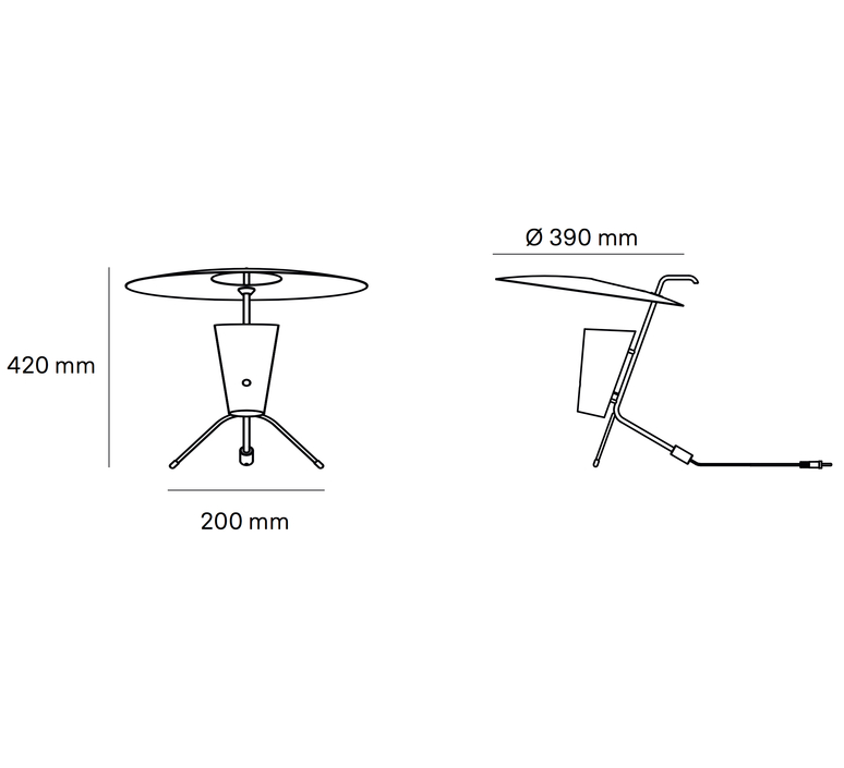 G24 guariche pierre guariche lampe a poser table lamp  sammode g24 bg ch ch  design signed nedgis 84646 product